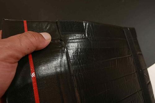Velcro at slit (hooks)