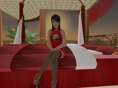 Dragon Lady on the Bed