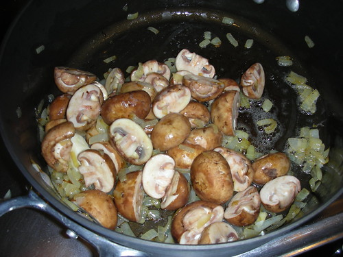 Cooking mushroom soup