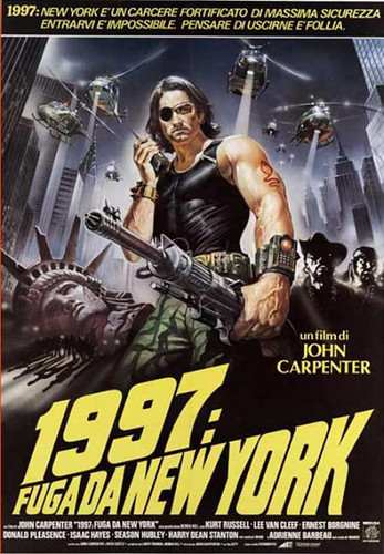 Escape from New York Movie Poster in Italian