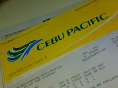 My plane ticket to Kalibo!