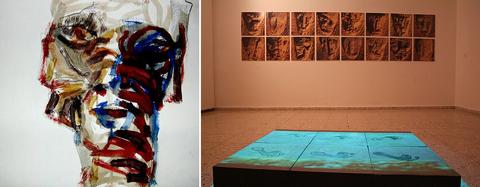 Painting & Improvisation/Waves installation
