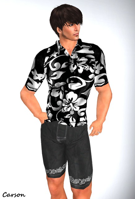 Hell Bop Clothing - Evan Black & White Shirt and Sammy Black Shorts