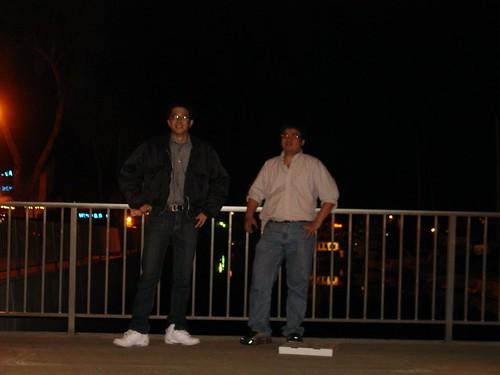 晚上的 Dana Point Harbor