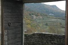 Vista del paisatges des del castell de Montesquiu