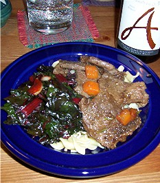 short ribs and chard