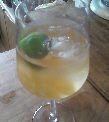 Lillet on the Rocks with Lime and Fresh Orange