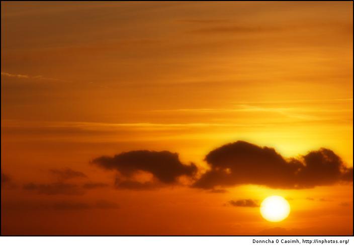 Soft golden sunset