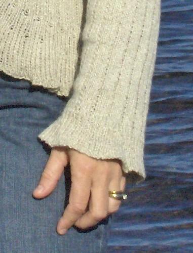 Frill Edged Cardigan Sleeve