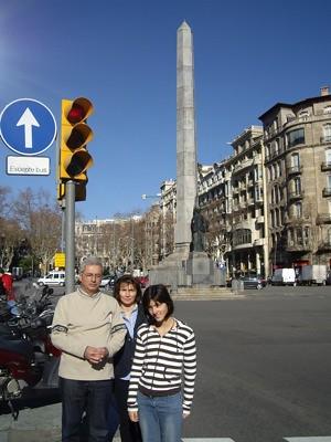 Obelisco en Diagonal con Passeig de Grà cia