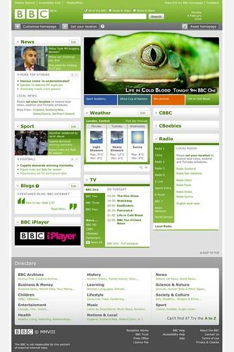 Nuevo diseño de la BBC