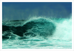 Waves crashing at Sal, Cabo Verde