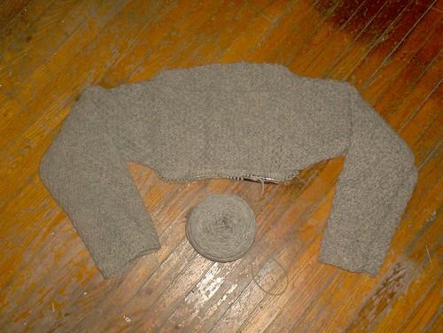 Zen Pullover, body begun