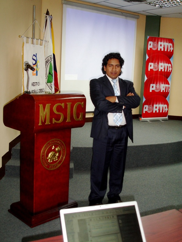 Nelson Piedra en MSIG - ESPOL