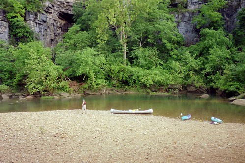 Campsite along the Jack\'s Fork River, 2006