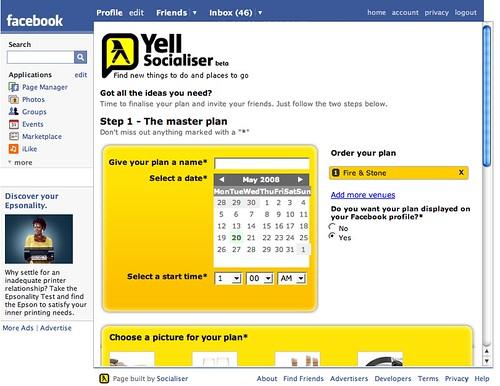 Yell facebook app 3