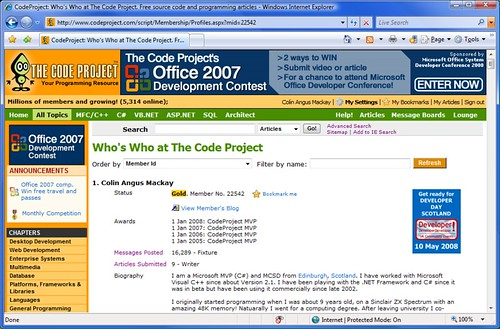 Code Project MVP (x4)