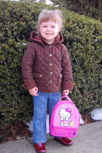 Grace's first day of preschool!