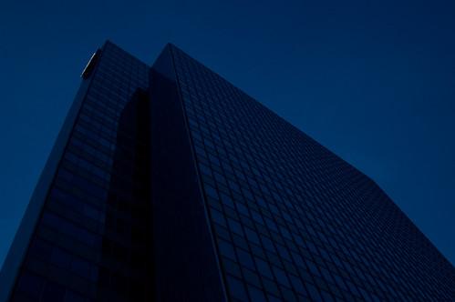 dreischeibenhaus by night