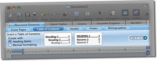 Office 2008 for Mac: Document Elements