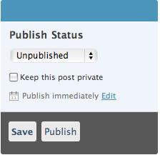 WordPress 2.5 Timestamp Managemt
