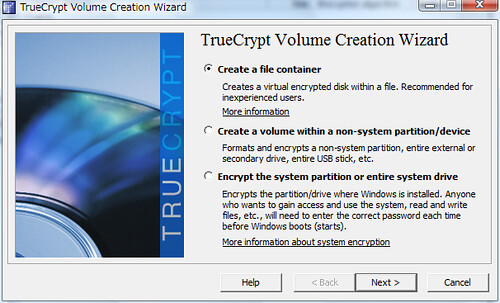 TrueCrypt Volume Creation