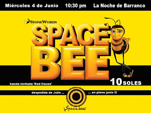 Afiche Space Bee