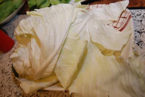 薑母鴨-高麗菜