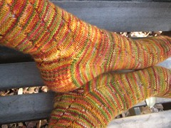 Maple Sugar Swirl Socks