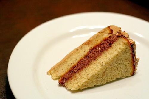 Hazelnut Genoise Cake With Chocolate Ganache Mousse and Espresso Buttercream