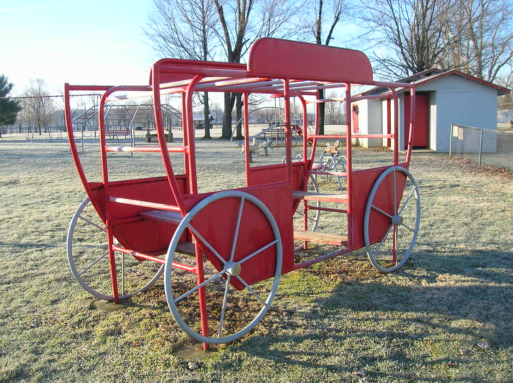 Metal stagecoach