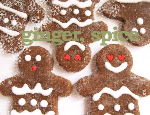 Thick and Chewy Gingerbread Cookies (with title)