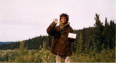 On the brink of death Chris Mccandless waves good bye and writes a final message