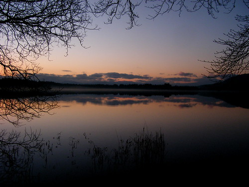 Sunset at Lake of Menteith