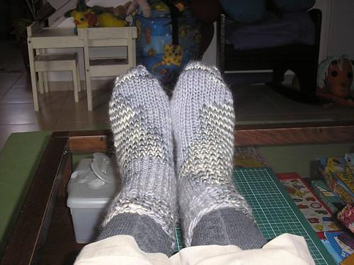 chunky woolly socks