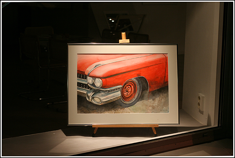 Caddy on canvas