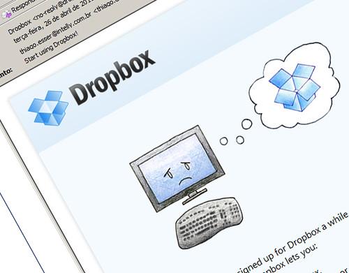 Email enviado pelo Dropbox