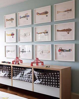domino nursery plane art