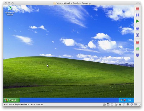 Parallels Windows XP