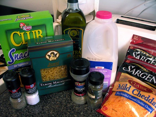 Mac 'n' Cheese Ingredients