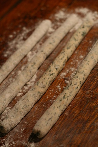 Rolls of Swiss Chard Gnocchi Dough