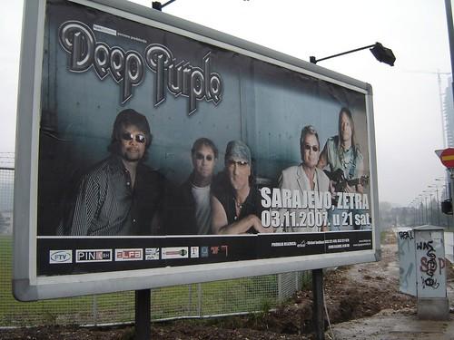 Afis pentru concertul Deep Purple in Sarajevo