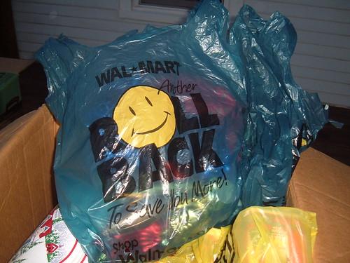 Blue W_a_l-M_a_r_t Roll Back Bag