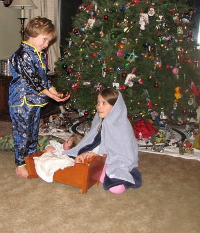 Wiseman, Joseph (taking a nap on the floor) & Mary