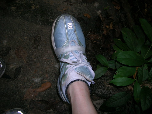 Bandaged shoe... Thanks to Shoe... how ironic :P