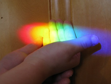 playing with rainbows