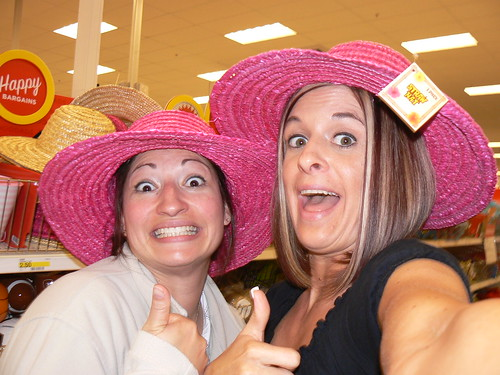 Fawn and Me Messing around at Target