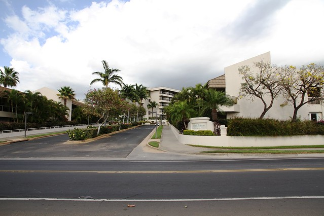 Entrance Road to the Maui Banyan Condos