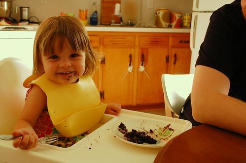 Cake, her favorite food.