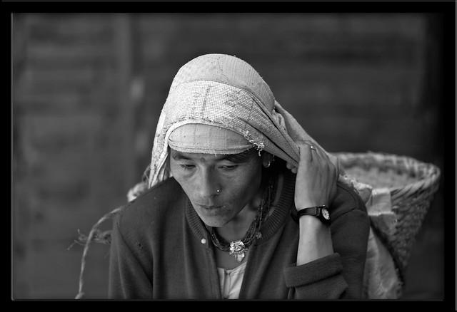 Nepalese Woman carrying Bricks - Patan - Nepal